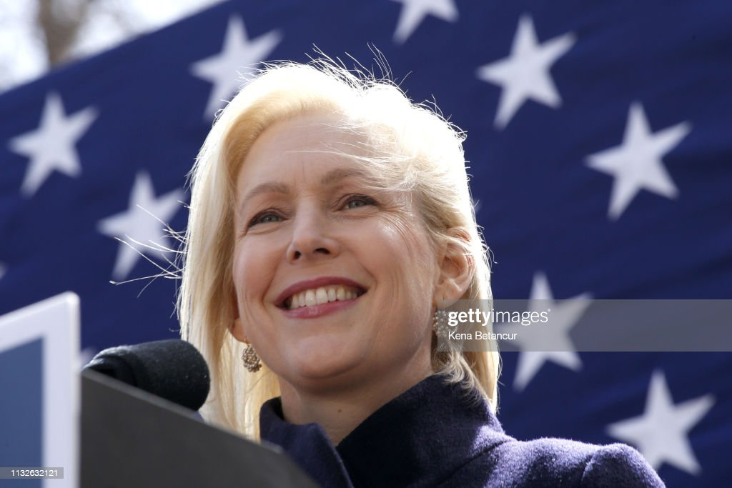 NY: Sen. Kirsten Gillibrand Holds Kickoff Rally At Trump Tower For Presidential Campaign