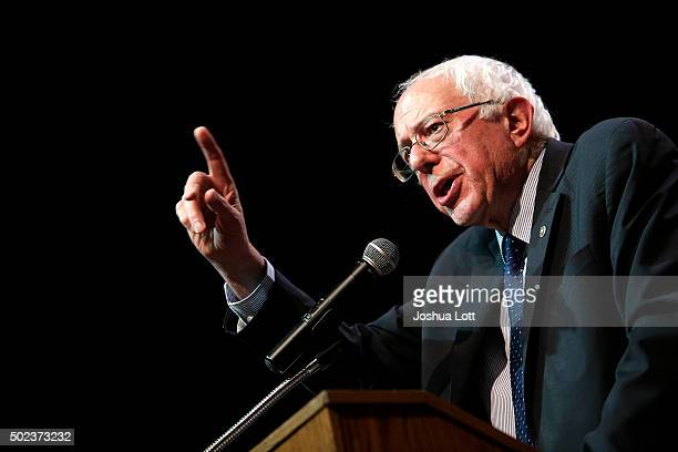 Democratic presidential candidate US Senator Bernie Sanders speaks during a news conference December 23 2015 in Chicago Illinois Sanders who is...