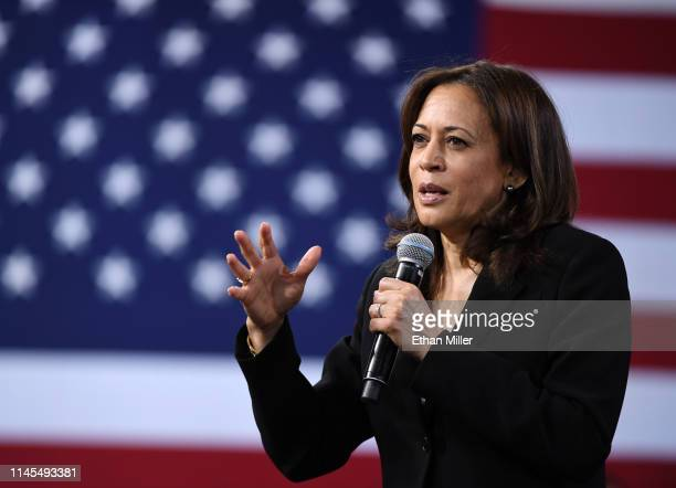 Democratic presidential candidate U.S. Sen. Kamala Harris speaks at the National Forum on Wages and Working People: Creating an Economy That Works...