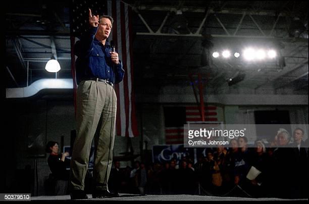 Democratic presidential candidate VP Al Gore on stump