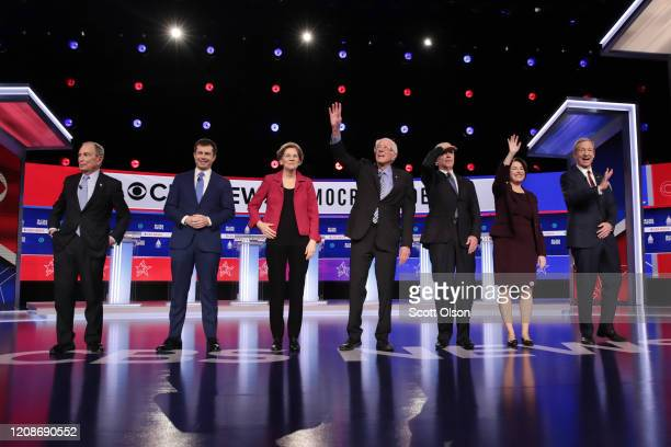 Democratic presidential candidates former New York City Mayor Mike Bloomberg, former South Bend, Indiana Mayor Pete Buttigieg, Sen. Elizabeth Warren...