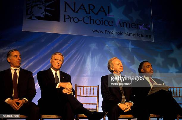 Democratic Presidential candidates Governor Howard Dean Congressman Richard Gephardt Senator Joseph Lieberman and Reverend Al Sharpton attend the...
