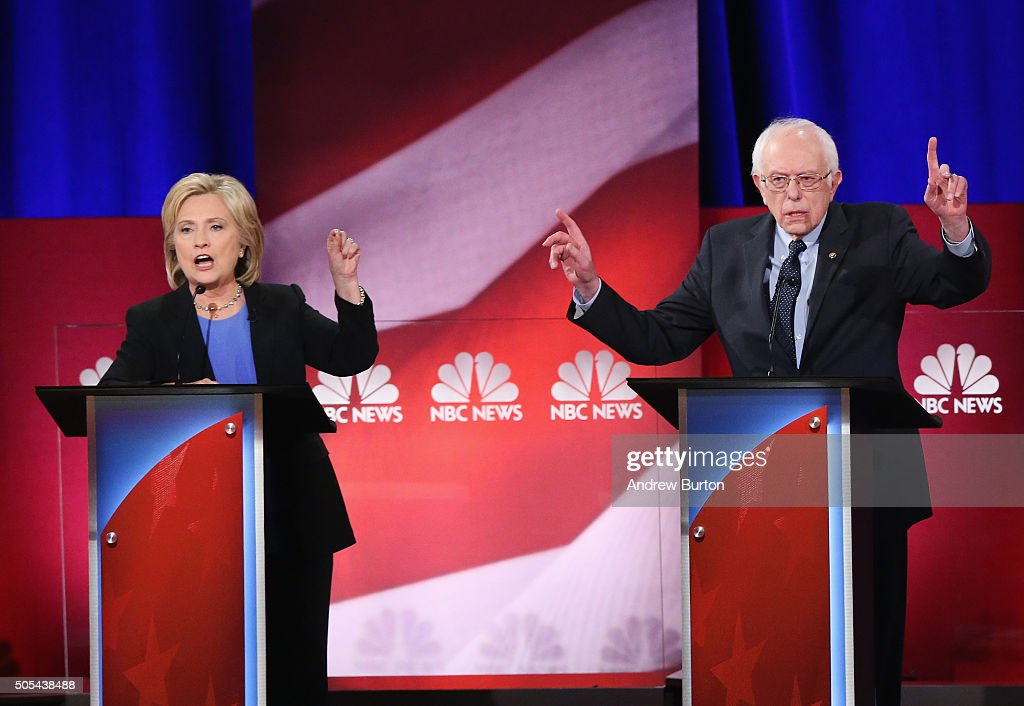 Democratic Presidential Candidates Debate In Charleston, South Carolina : News Photo