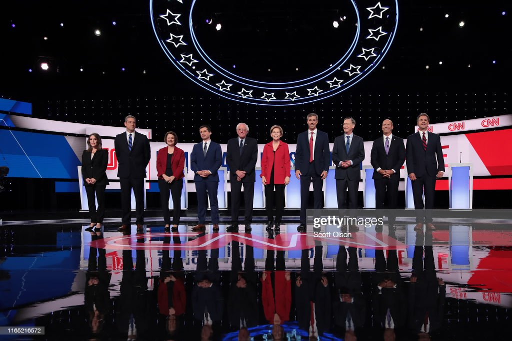 Democratic Presidential Candidates Debate In Detroit Over Two Nights : News Photo
