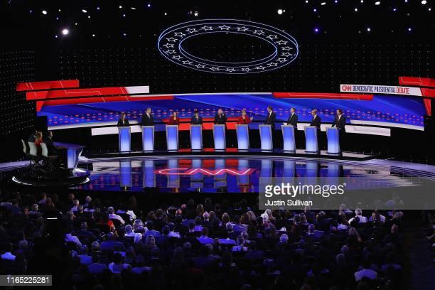Democratic presidential candidates Marianne Williamson Rep Tim Ryan Sen Amy Klobuchar Indiana Mayor Pete Buttigieg Sen Bernie Sanders Sen Elizabeth...
