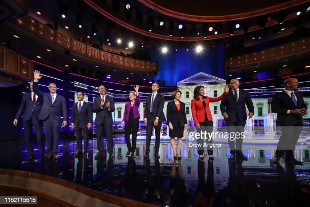 Democratic presidential candidates New York City Mayor Bill De Blasio , Rep. Tim Ryan , former housing secretary Julian Castro, Sen. Cory Booker ,...