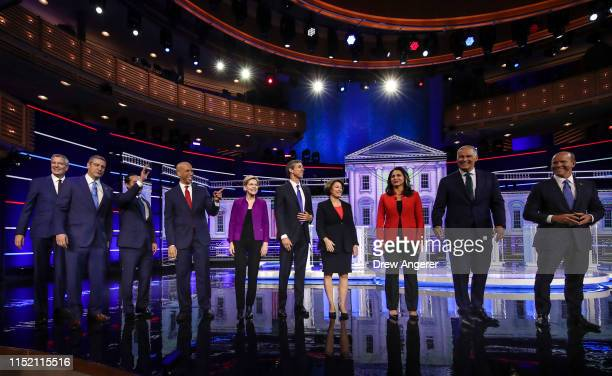 Democratic presidential candidates New York City Mayor Bill De Blasio , Rep. Tim Ryan , former housing secretary Julian Castro, Sen. Cory Booker ,...