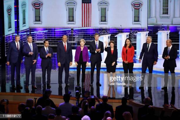 Democratic presidential candidates New York City Mayor Bill De Blasio Rep Tim Ryan former housing secretary Julian Castro Sen Cory Booker Sen...