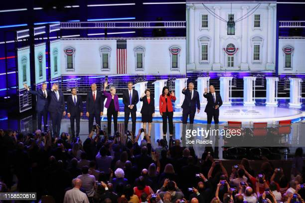 Democratic presidential candidates New York City Mayor Bill De Blasio Rep Tim Ryan former housing secretary Julian Castro Sen Cory Booker Sen...