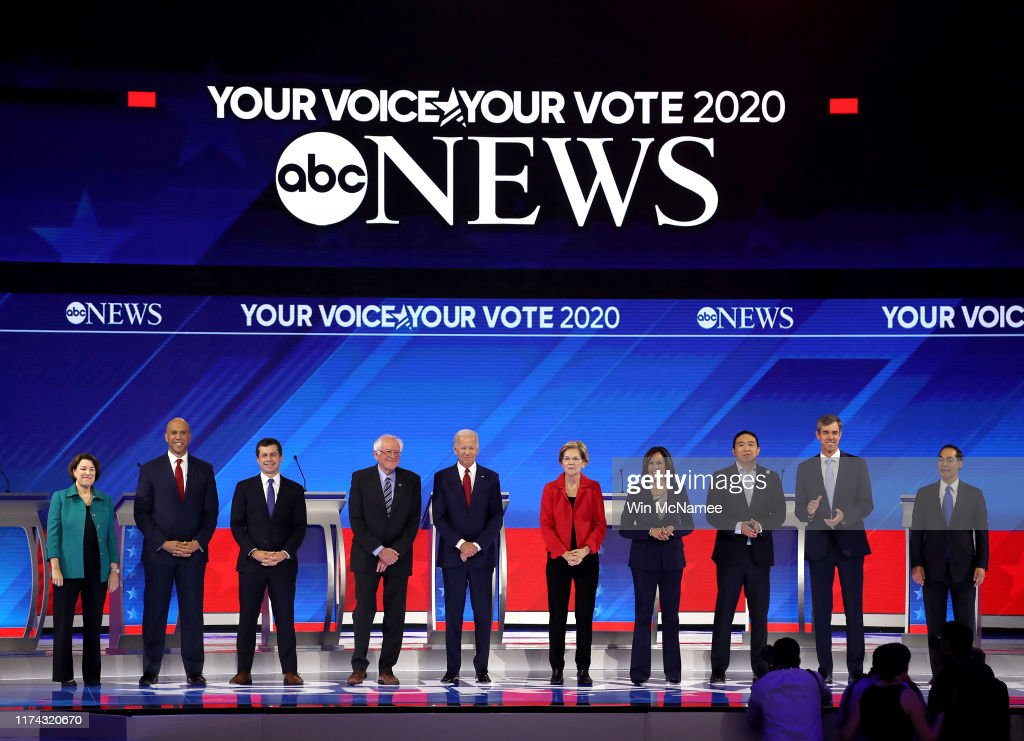 Democratic Presidential Candidates Participate In Third Debate In Houston : News Photo