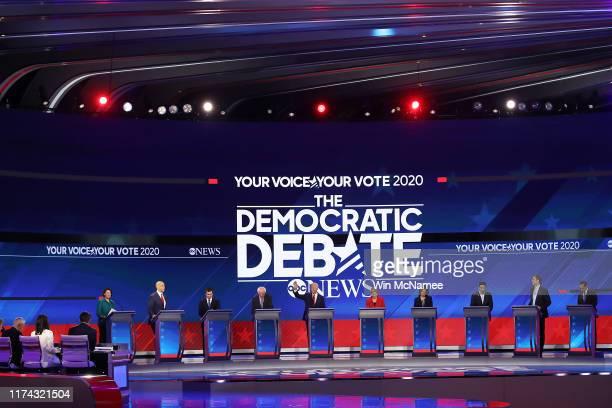 Democratic presidential candidates Sen Amy Klobuchar Sen Cory Booker South Bend Indiana Mayor Pete Buttigieg Sen Bernie Sanders former Vice President...