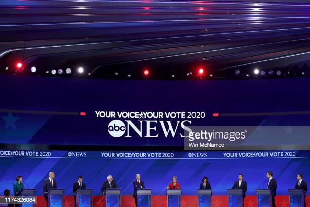 Democratic presidential candidates Sen. Amy Klobuchar , Sen. Cory Booker , South Bend, Indiana Mayor Pete Buttigieg, Sen. Bernie Sanders , former...