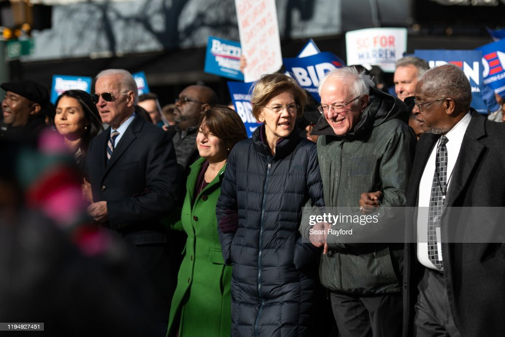 Democratic Presidential Candidates Attend MLK Rally At South Carolina Capitol Dome : News Photo