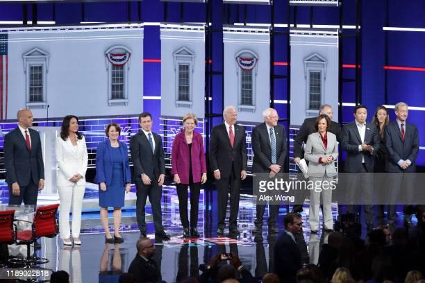 Democratic presidential candidates Sen. Cory Booker , Rep. Tulsi Gabbard , Sen. Amy Klobuchar , South Bend, Indiana Mayor Pete Buttigieg, Sen....