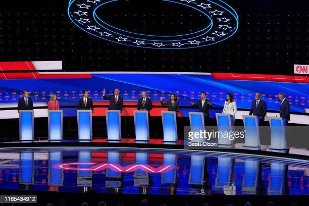 Democratic presidential candidates Sen Michael Bennet Sen Kirsten Gillibrand former housing secretary Julian Castro Sen Cory Booker former Vice...