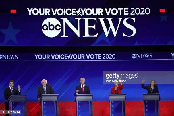 Democratic presidential candidates South Bend, Indiana Mayor Pete Buttigieg, Sen. Bernie Sanders , former Vice President Joe Biden, Sen. Elizabeth...