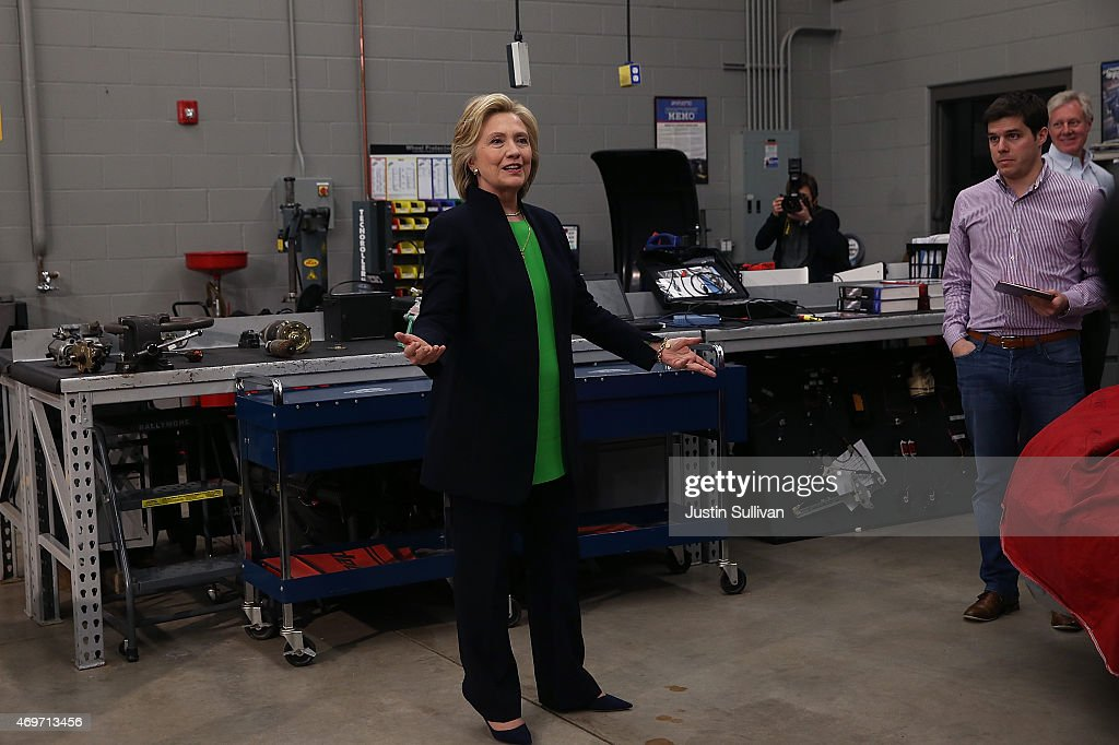 Hillary Clinton Begins Presidential Campaign In Iowa : News Photo