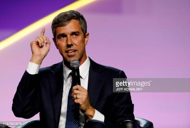 Democratic presidential hopeful for Beto O'Rourke addresses the Presidential Forum at the NAACP's 110th National Convention at Cobo Center on July 24...