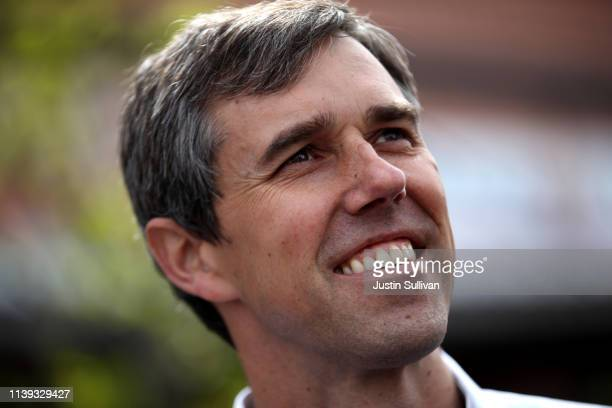 Democratic presidential hopeful former US Rep Beto O'Rourke looks on during a campaign rally on March 30 2019 in El Paso Texas Beto O'Rourke...