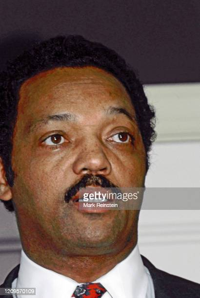 Democratic Presidential hopeful Jesse Jackson at Operation Push in Chicago Jackson brought his campaign home in a bid for votes in the Illinois...
