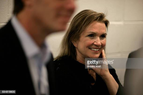 Democratic presidential hopeful John Edwards' wife Elizabeth during a campaign stop at Stoneyfield Farm Yogurt in Londonderry New Hampshire