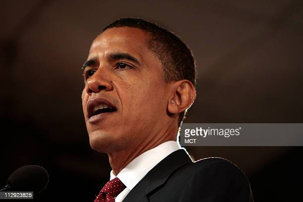 Democratic presidential hopeful, Sen. Barack Obama, D-Ill., delivers a speech about terrorism and foreign policy, Wednesday, August 1 at the Woodrow...