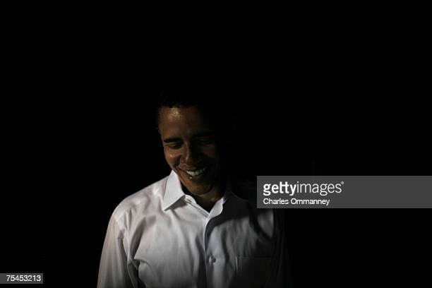 Democratic presidential hopeful Sen Barack Obama of Illinois addresses a crowd of supporters at a campaign rally, June 24, 2007 at Sunset Station, in...