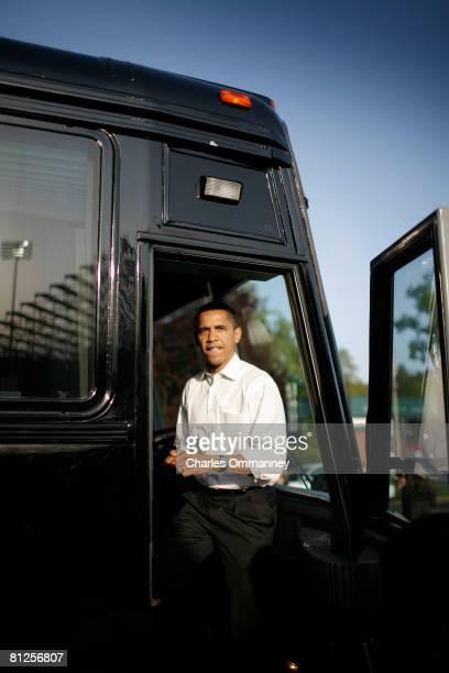 Democratic presidential hopeful Sen. Barack Obama visits a track and field meet at the University of Oregon, May 9, 2008 in Eugene, Oregon. Oregon...