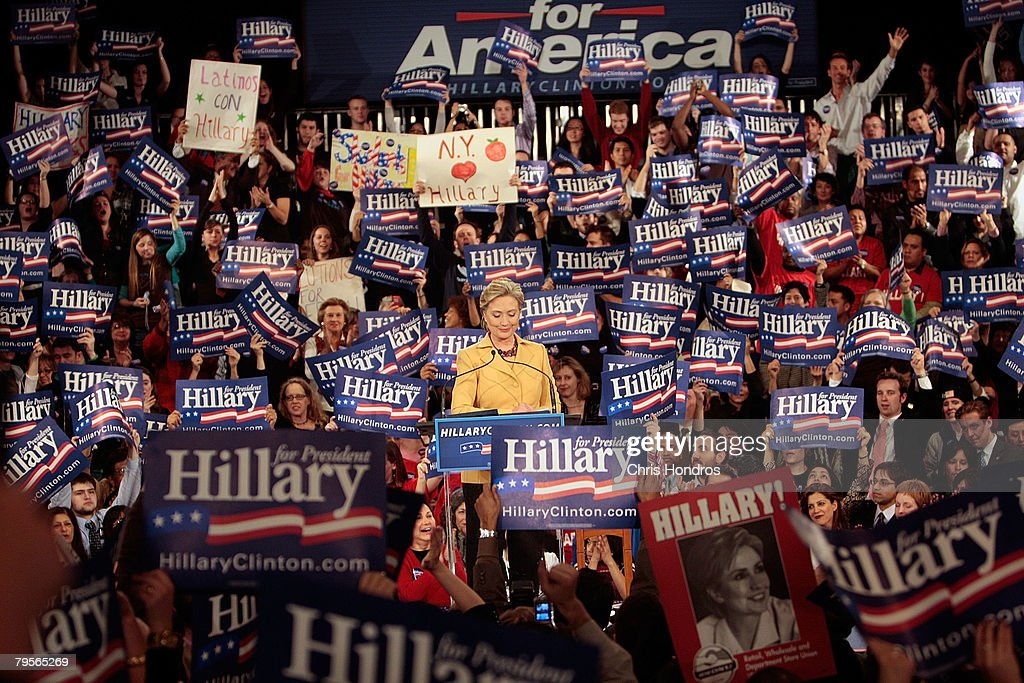 Hillary Clinton Hosts Super Tuesday Primary Night Event In NYC : News Photo
