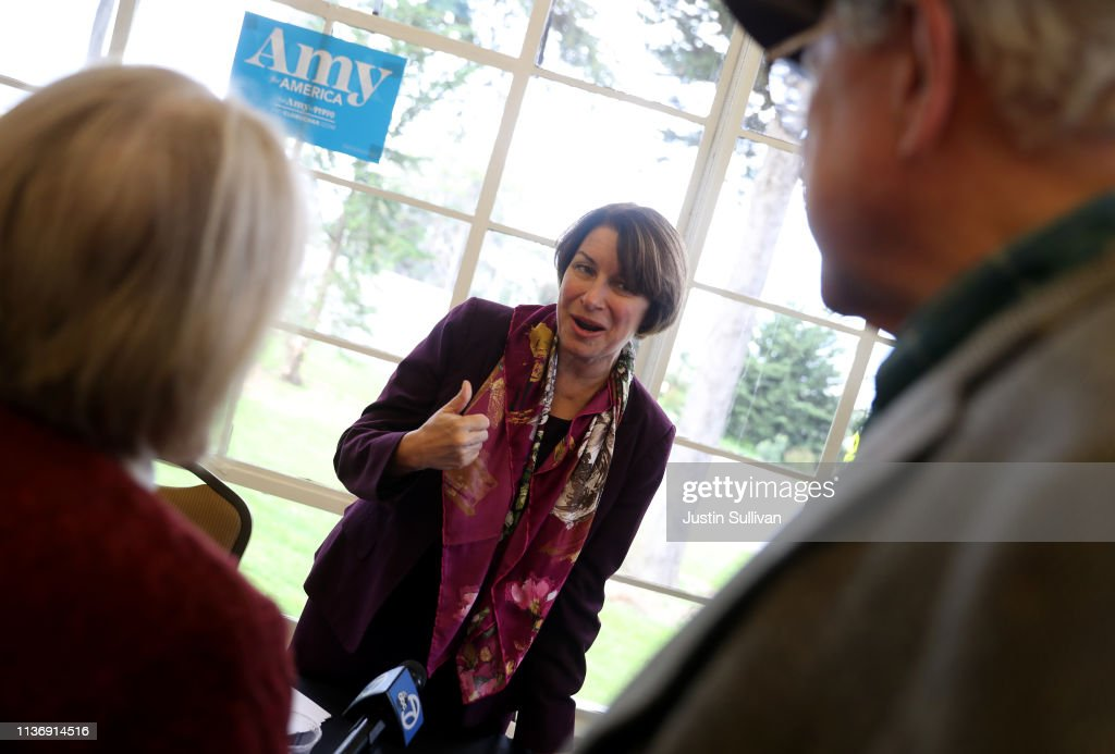 CA: Democratic Presidential Candidate Amy Klobuchar Hosts Roundtable On Climate Change In San Francisco