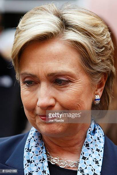 Democratic presidential hopeful U.S. Senator Hillary Clinton during a round table discussion on health care at Doernbecher Children's Hospital May 9,...