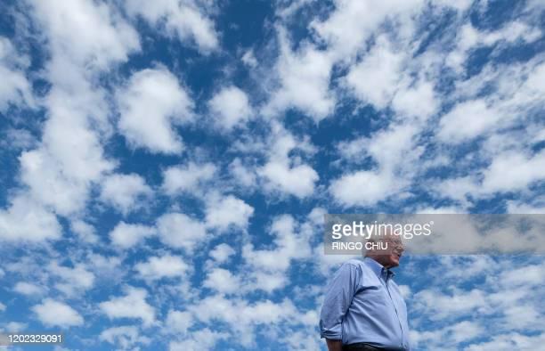 Democratic presidential hopeful Vermont Senator Bernie Sanders addresses a rally at Valley High School in Santa Ana California February 21 2020