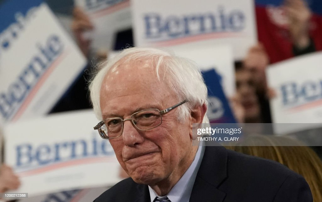 US-POLITICS-VOTE-DEMOCRATS-NEW-HAMPSHIRE-PRIMARY-SANDERS : News Photo