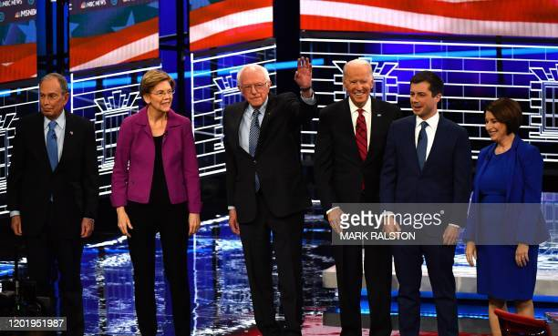 Democratic presidential hopefuls Former New York Mayor Mike Bloomberg Massachusetts Senator Elizabeth Warren Vermont Senator Bernie Sanders Former...
