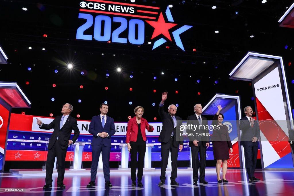 US-VOTE-2020-DEMOCRATS-DEBATE-POLITICS-ELECTION : News Photo