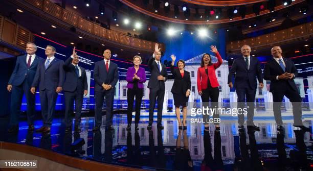 Democratic presidential hopefuls Mayor of New York City Bill de Blasio, US Representative for Ohio's 13th congressional district Tim Ryan, former US...