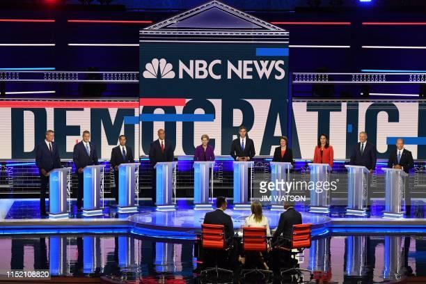 Democratic presidential hopefuls Mayor of New York City Bill de Blasio US Representative for Ohio's 13th congressional district Tim Ryan former US...