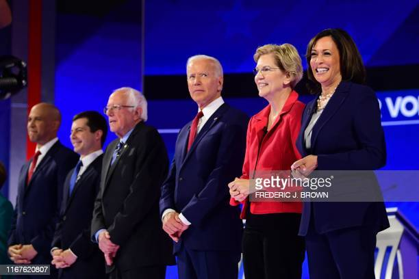 Democratic presidential hopefuls Senator of New Jersey Cory Booker Mayor of South Bend Indiana Pete Buttigieg Senator of Vermont Bernie Sanders...