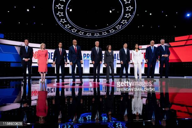 Democratic presidential hopefuls US Senator from Colorado Michael Bennet US Senator from New York Kirsten Gillibrand former US Secretary of Housing...