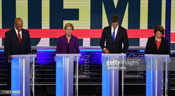 Democratic presidential hopefuls US Senator from New Jersey Cory Booker US Senator from Massachusetts Elizabeth Warren Former US Representative for...