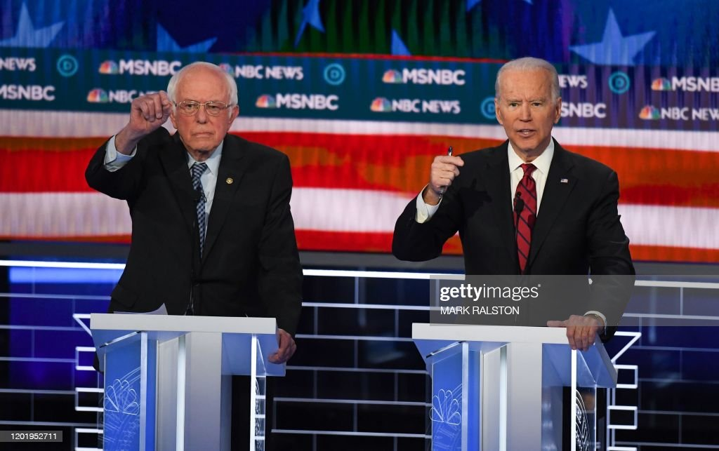 US-VOTE-2020-DEMOCRATS-DEBATE-POLITICS : News Photo