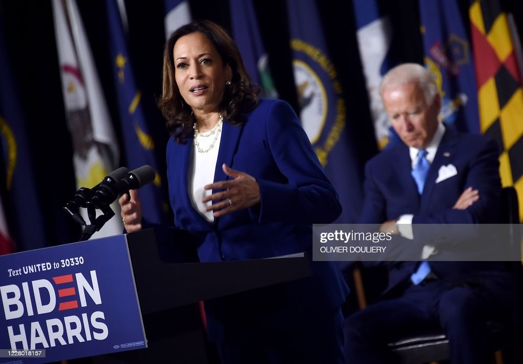 US-POLITICS-VOTE-DEMOCRATS-BIDEN-HARRIS : News Photo