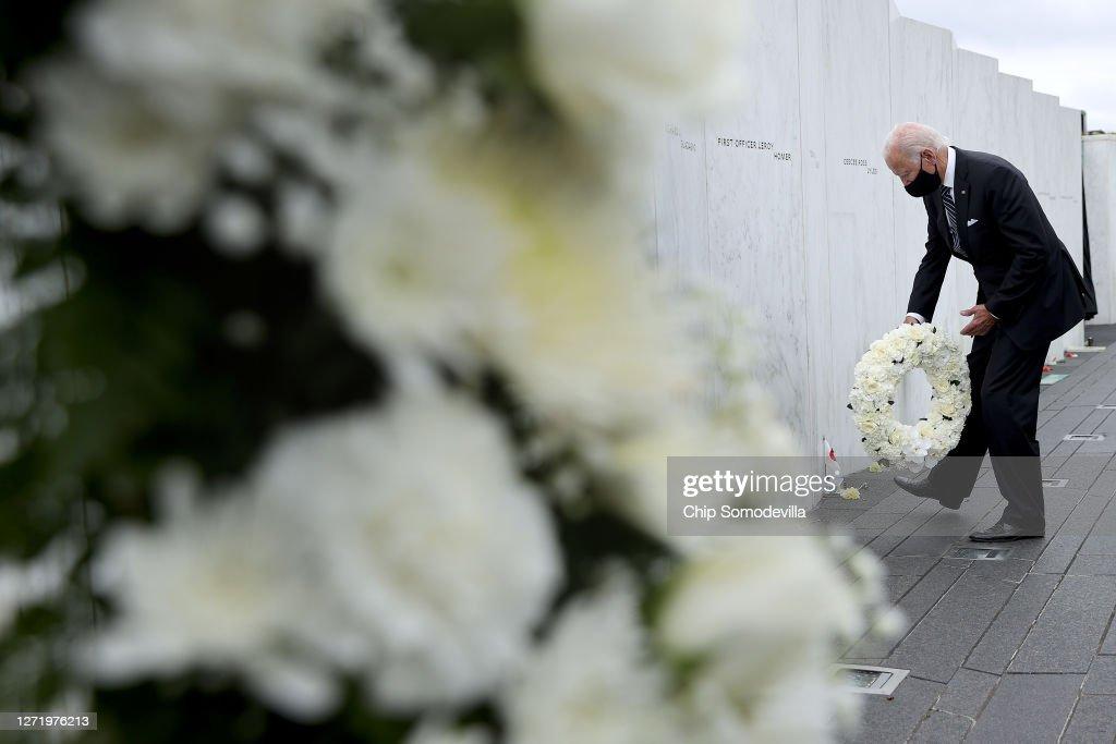 Donald Trump And Joe Biden Attend 9/11 Commemoration In Shanksville, PA : ニュース写真