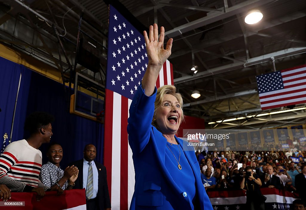 Democratic Presidential Candidate Hillary Clinton Campaigns In Charlotte, North Carolina