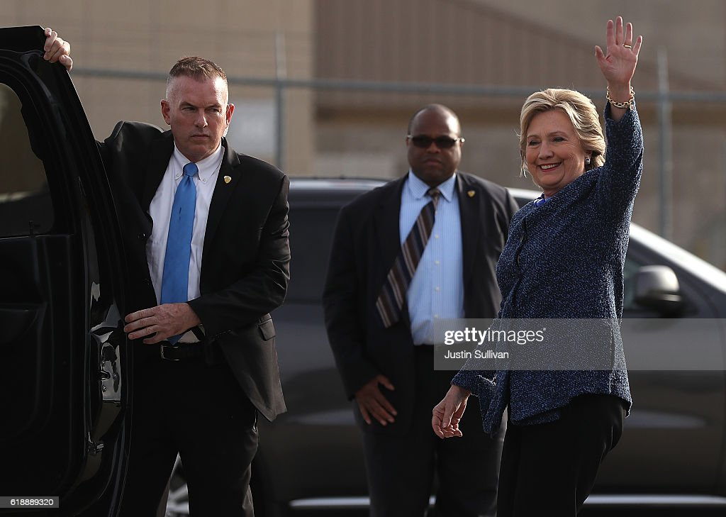 Hillary Clinton Holds Early Voting Rallies In Iowa : News Photo