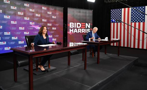 DE: Presidential Candidate Joe Biden And Running Mate Kamala Harris Sign Documents Required For Receiving Party's Nomination