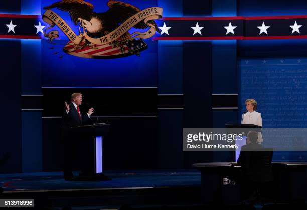 Democratic Presidential nominee Hillary Clinton and Republican Presidential nominee Donald Trump face off at the third and final debate of the...