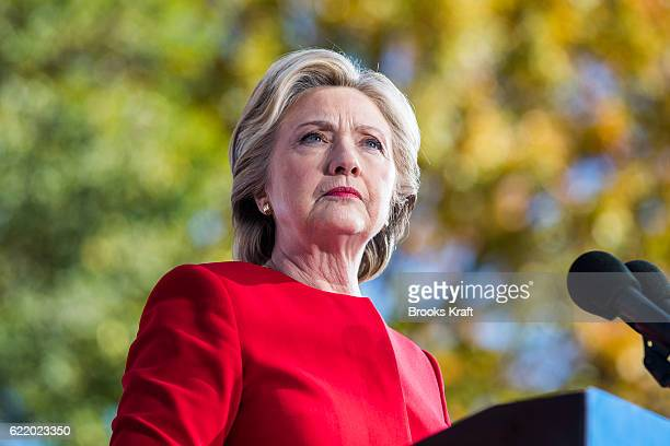 Democratic presidential nominee Hillary Clinton attends a campaign rally November 7 2016 in Pittsburgh Pennsylvania