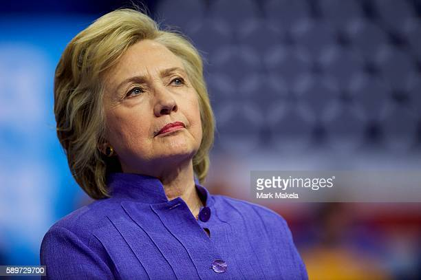 Democratic Presidential nominee Hillary Clinton holds a rally with US Vice President Joe Biden at Riverfront Sports athletic facility on August 15,...