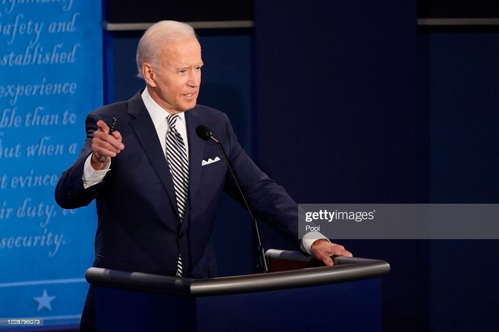 Donald Trump And Joe Biden Participate In First Presidential Debate : News Photo